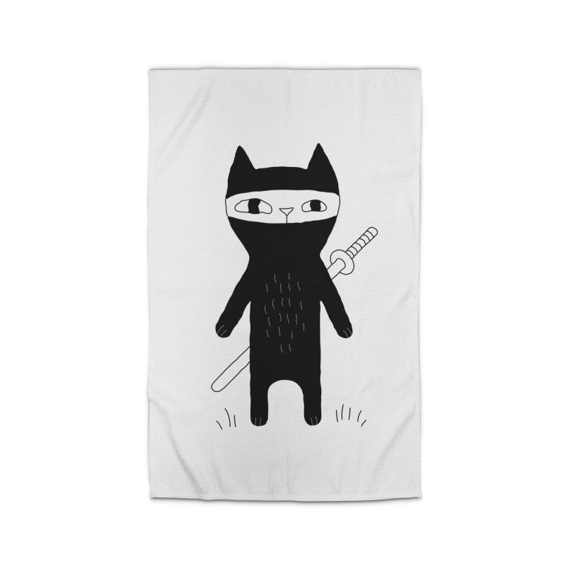 Ninja Cat Home Rug by PENARULIT's Artist Shop