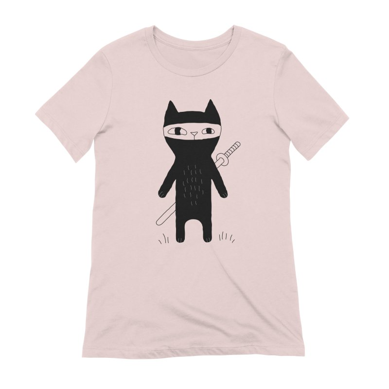 Ninja Cat Women's Extra Soft T-Shirt by PENARULIT's Artist Shop