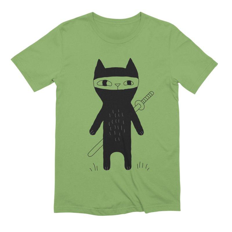 Ninja Cat Men's Extra Soft T-Shirt by PENARULIT's Artist Shop