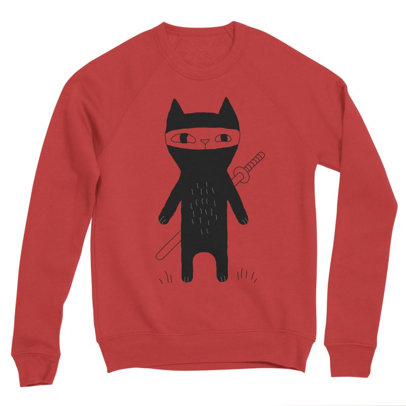 Ninja Cat Men's Sponge Fleece Sweatshirt by PENARULIT's Artist Shop