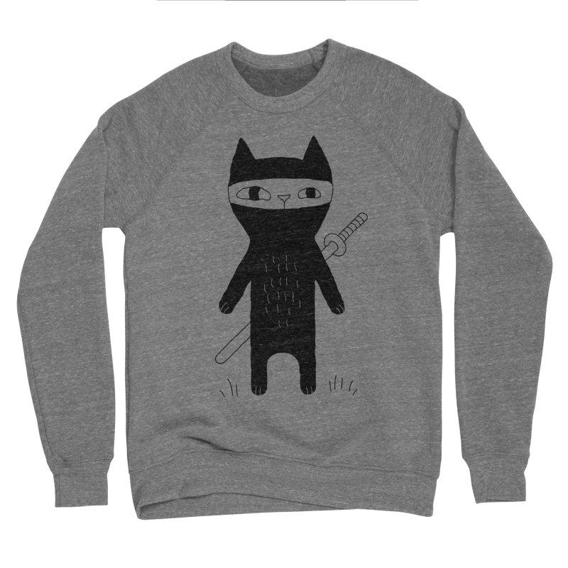 Ninja Cat Women's Sponge Fleece Sweatshirt by PENARULIT's Artist Shop