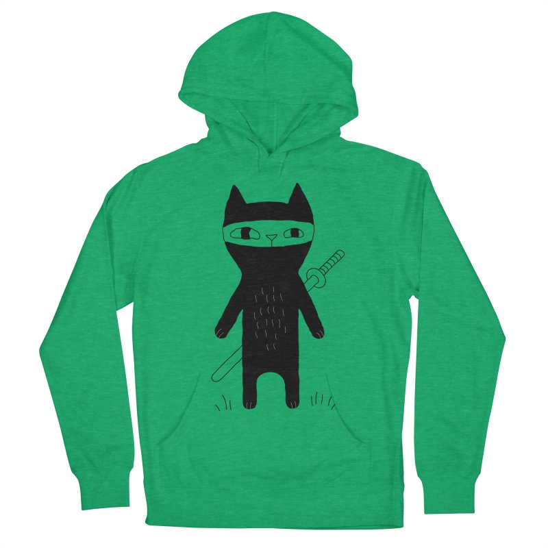 Ninja Cat Women's French Terry Pullover Hoody by PENARULIT's Artist Shop