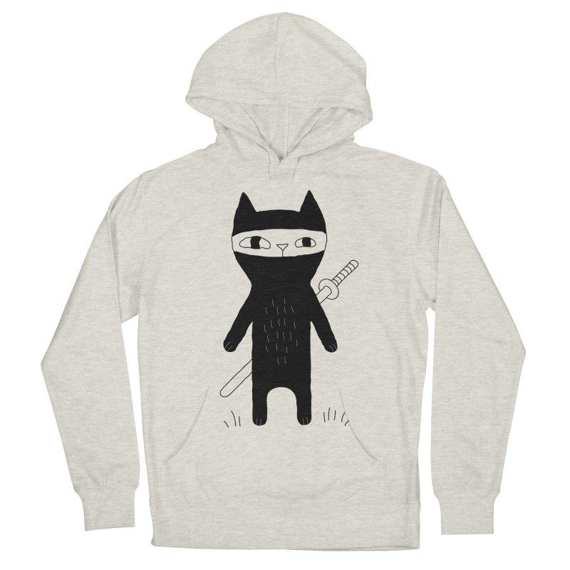 Ninja Cat Women's French Terry Pullover Hoody by PENARULIT's Artist Shop