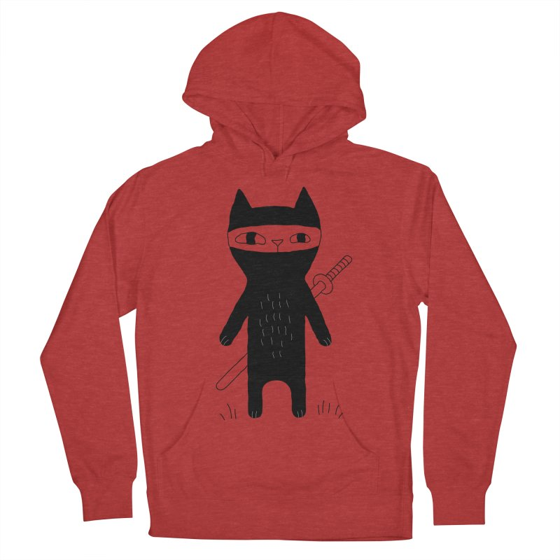 Ninja Cat Men's French Terry Pullover Hoody by PENARULIT's Artist Shop