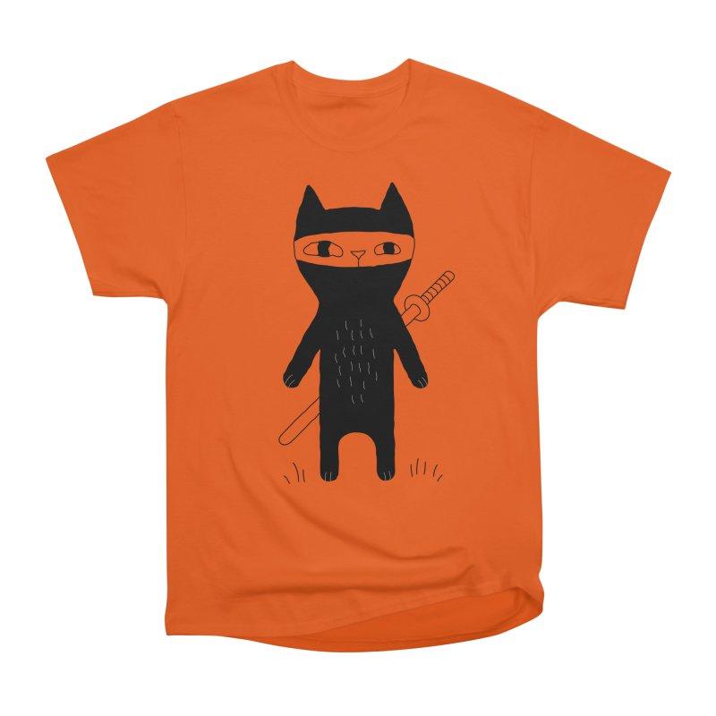 Ninja Cat Men's Heavyweight T-Shirt by PENARULIT's Artist Shop