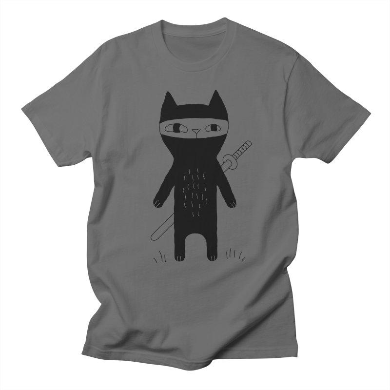 Ninja Cat Women's Regular Unisex T-Shirt by PENARULIT's Artist Shop