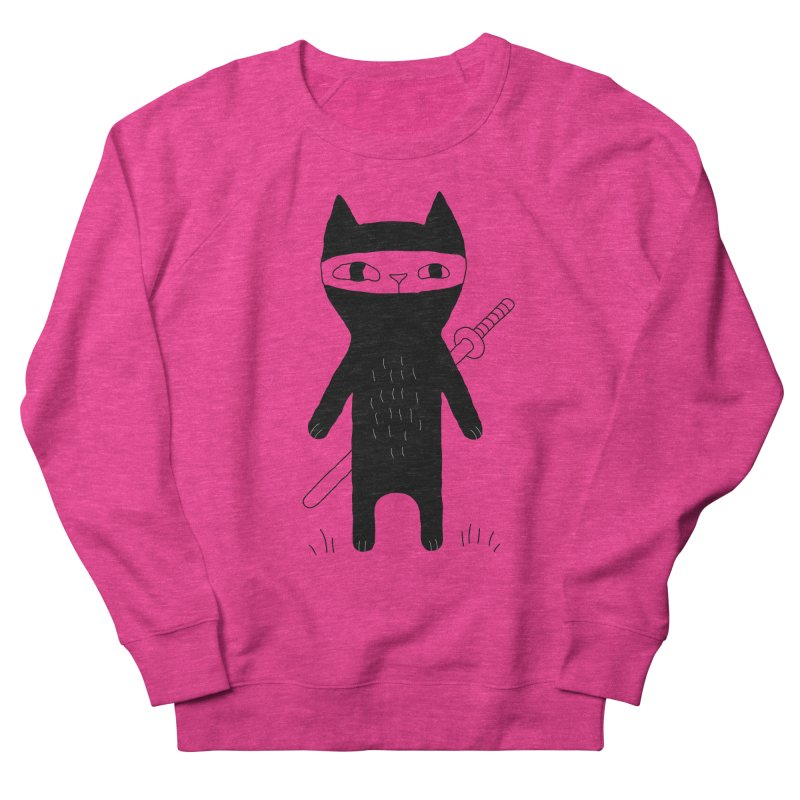 Ninja Cat Women's French Terry Sweatshirt by PENARULIT's Artist Shop