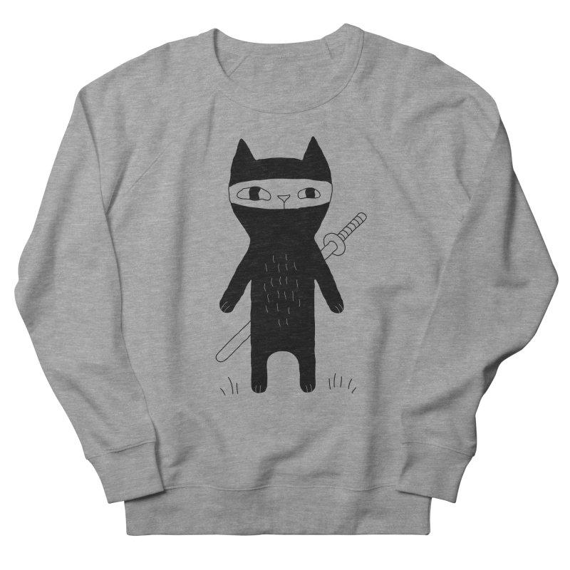Ninja Cat Men's French Terry Sweatshirt by PENARULIT's Artist Shop