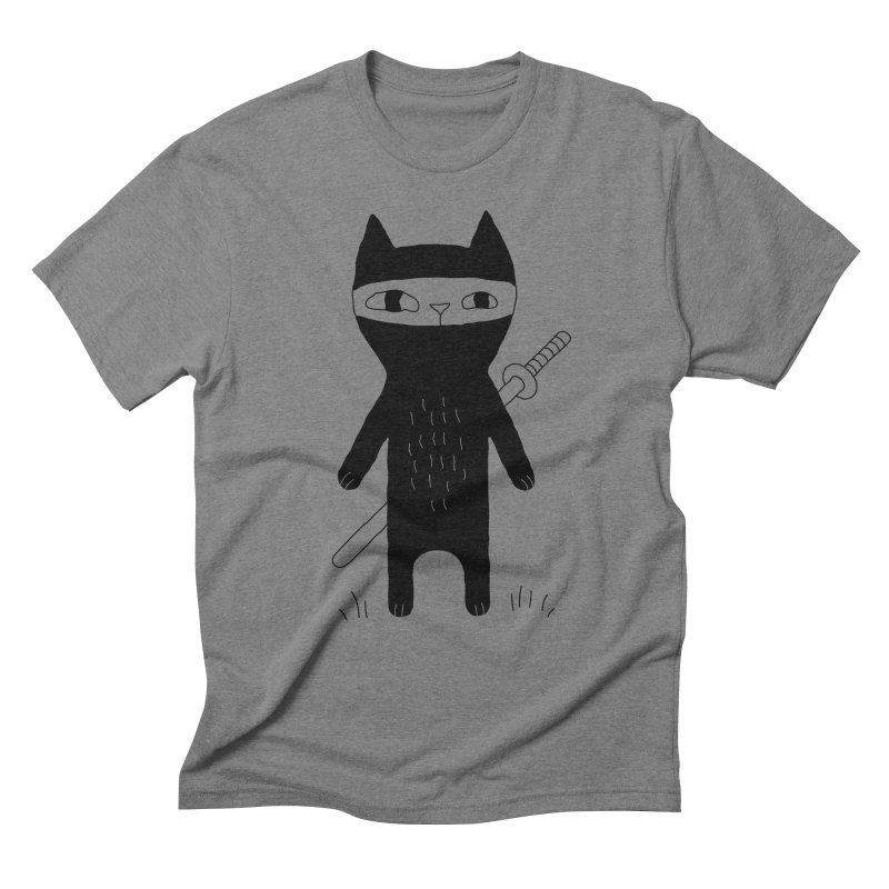 Ninja Cat Men's Triblend T-Shirt by PENARULIT's Artist Shop