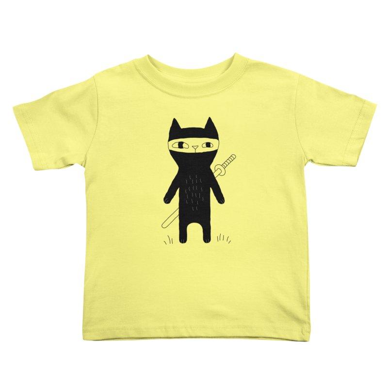 Ninja Cat Kids Toddler T-Shirt by PENARULIT's Artist Shop