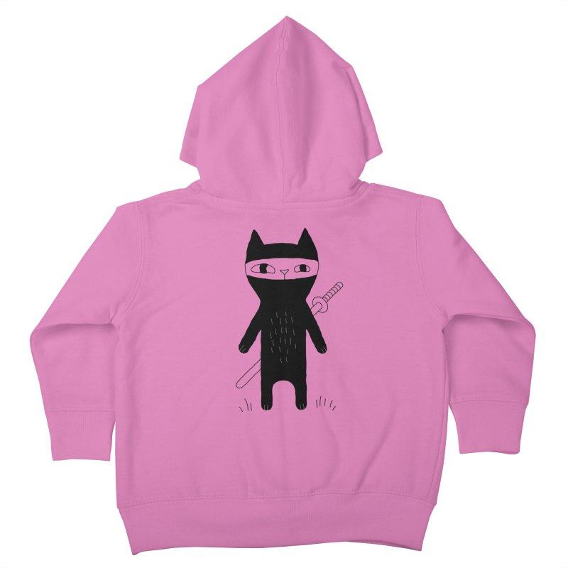 Ninja Cat Kids Toddler Zip-Up Hoody by PENARULIT's Artist Shop