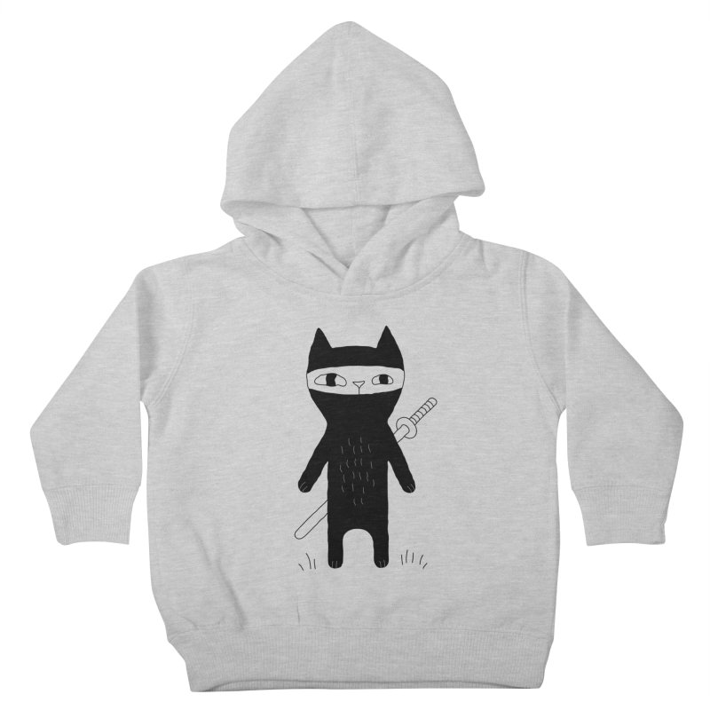 Ninja Cat Kids Toddler Pullover Hoody by PENARULIT's Artist Shop