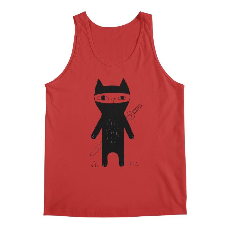 Ninja Cat Men's Regular Tank by PENARULIT's Artist Shop