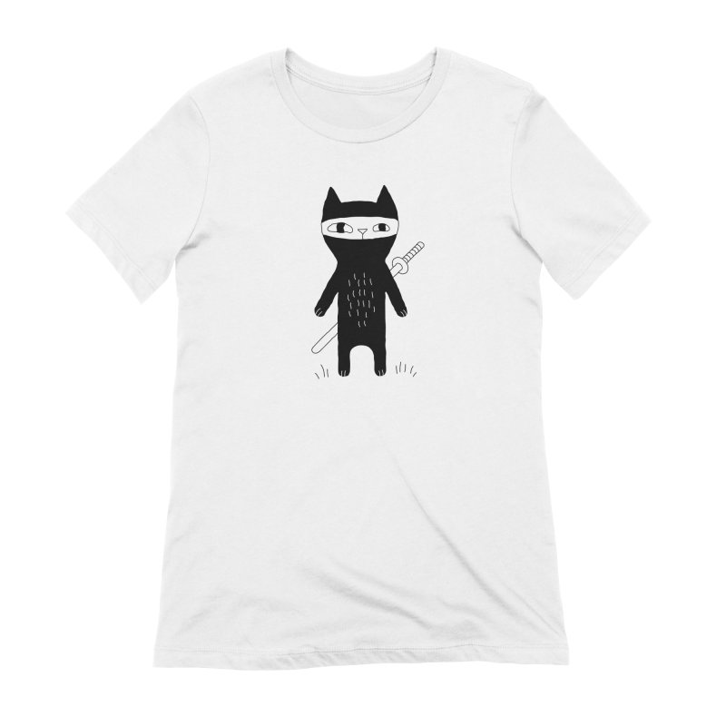 Ninja Cat Women's T-Shirt by PENARULIT illustration