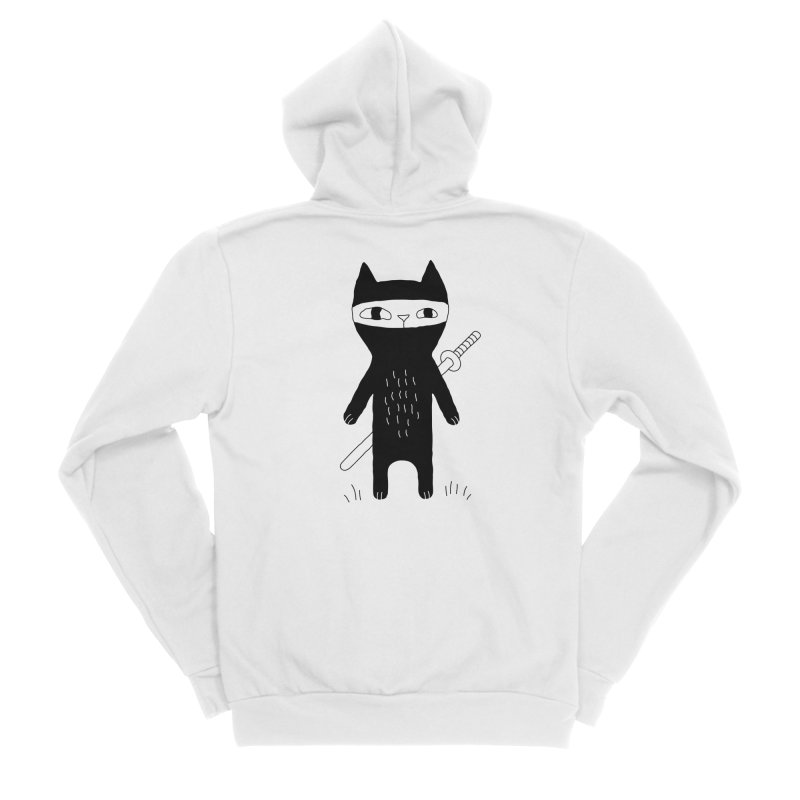 Ninja Cat Women's Zip-Up Hoody by Ekaterina Zimodro's Artist Shop