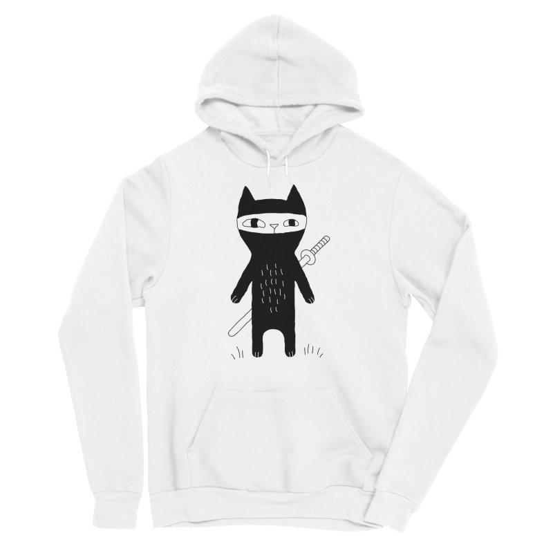 Ninja Cat Men's Pullover Hoody by PENARULIT illustration