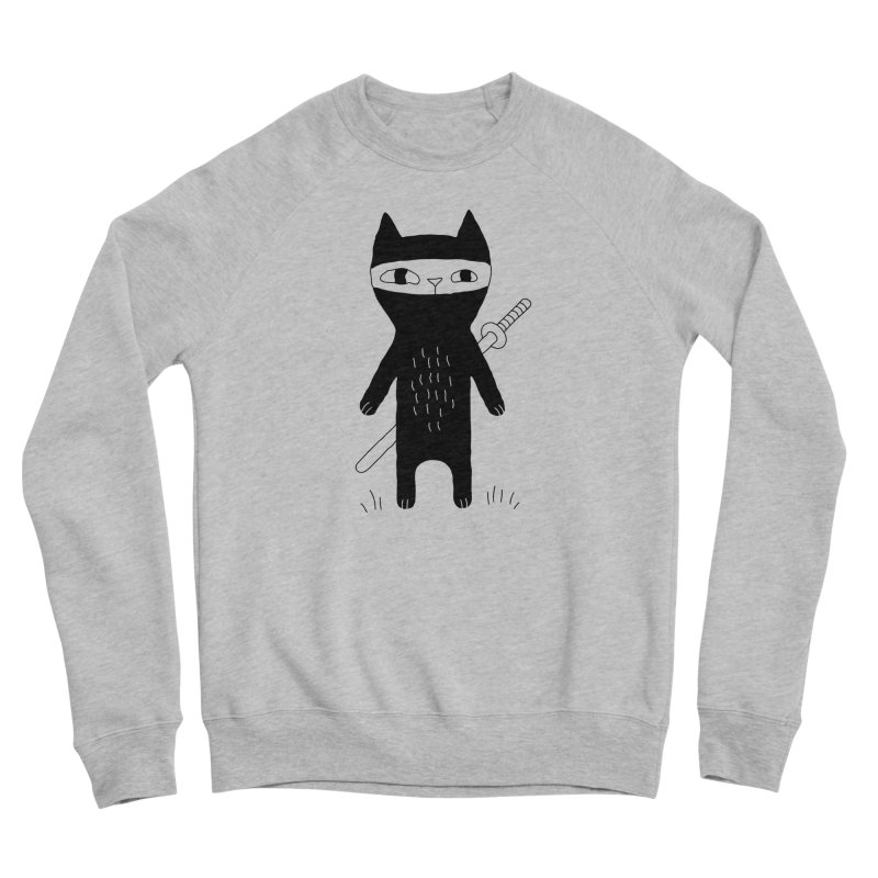 Ninja Cat Women's Sweatshirt by Ekaterina Zimodro's Artist Shop