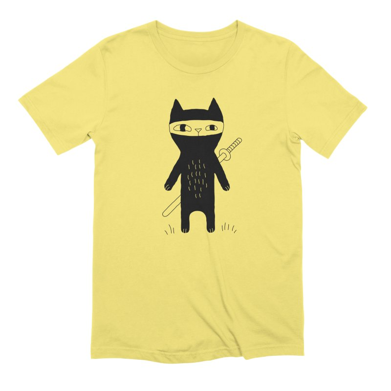 Ninja Cat Men's T-Shirt by Ekaterina Zimodro's Artist Shop