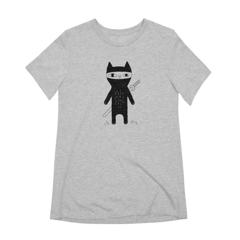 Ninja Cat Women's Extra Soft T-Shirt by PENARULIT's Artist Shop