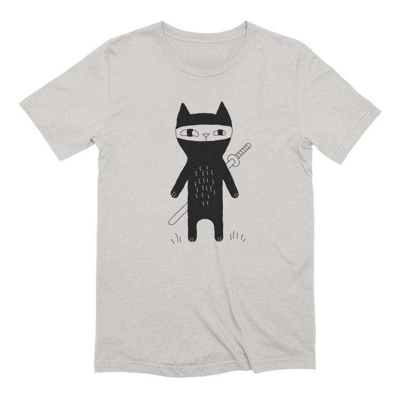 Ninja Cat Men's T-Shirt by PENARULIT illustration