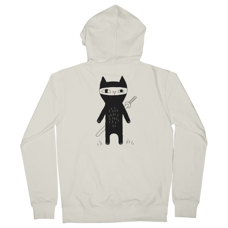 Ninja Cat Women's Zip-Up Hoody by Ekaterina Zimodro's Artist Shop
