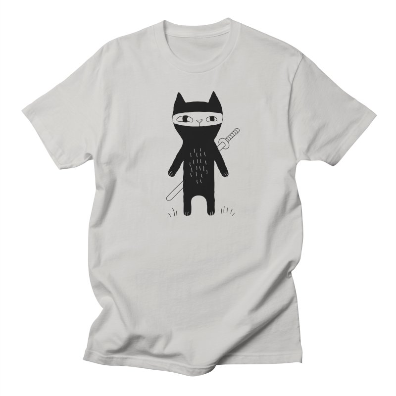 Ninja Cat Men's T-Shirt by PENARULIT's Artist Shop