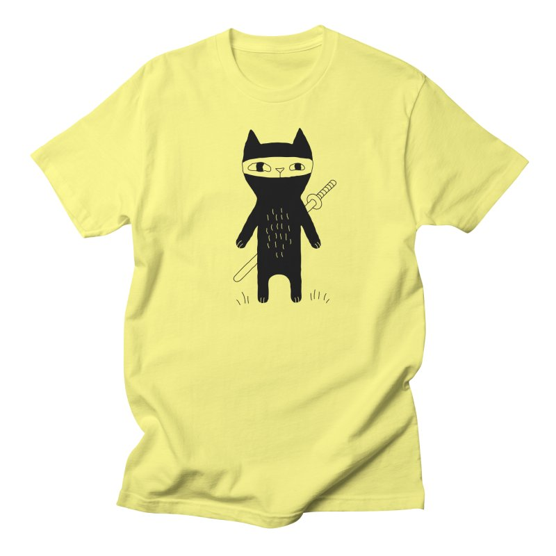 Ninja Cat Women's T-Shirt by Ekaterina Zimodro's Artist Shop