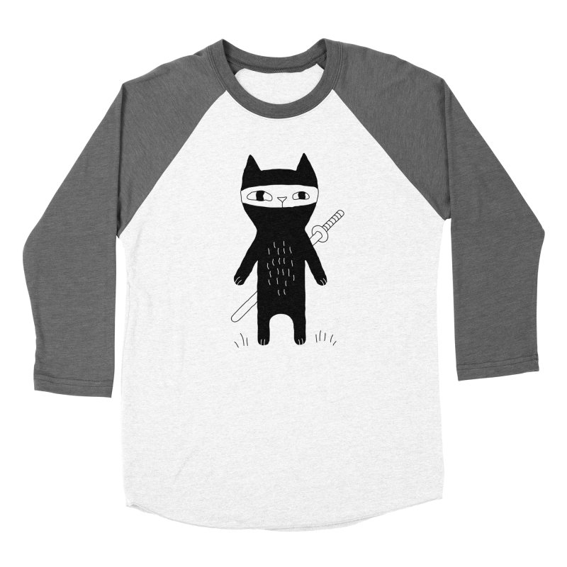 Ninja Cat Women's Longsleeve T-Shirt by PENARULIT's Artist Shop