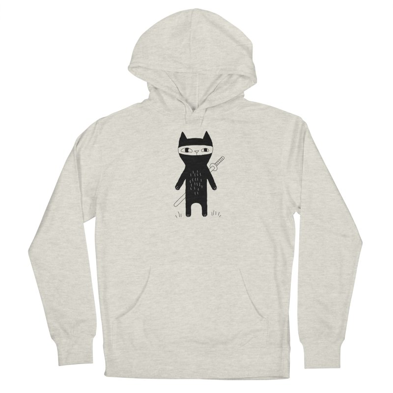 Ninja Cat Men's Pullover Hoody by Ekaterina Zimodro's Artist Shop