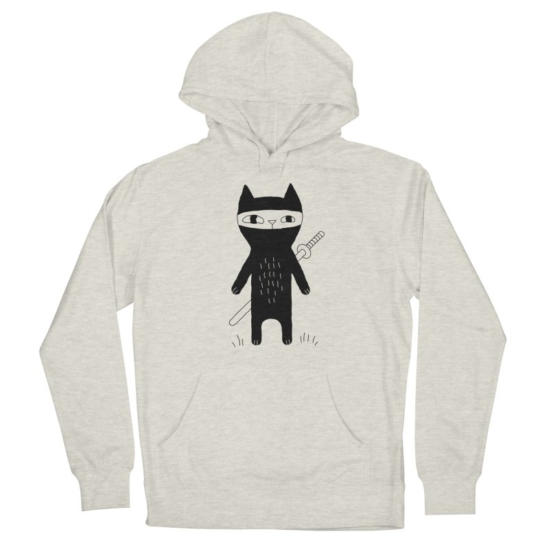 Ninja Cat Women's Pullover Hoody by PENARULIT illustration