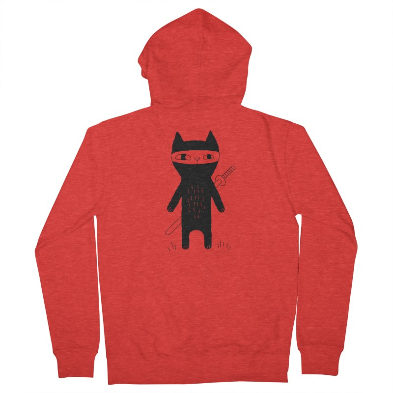 Ninja Cat Men's Zip-Up Hoody by Ekaterina Zimodro's Artist Shop