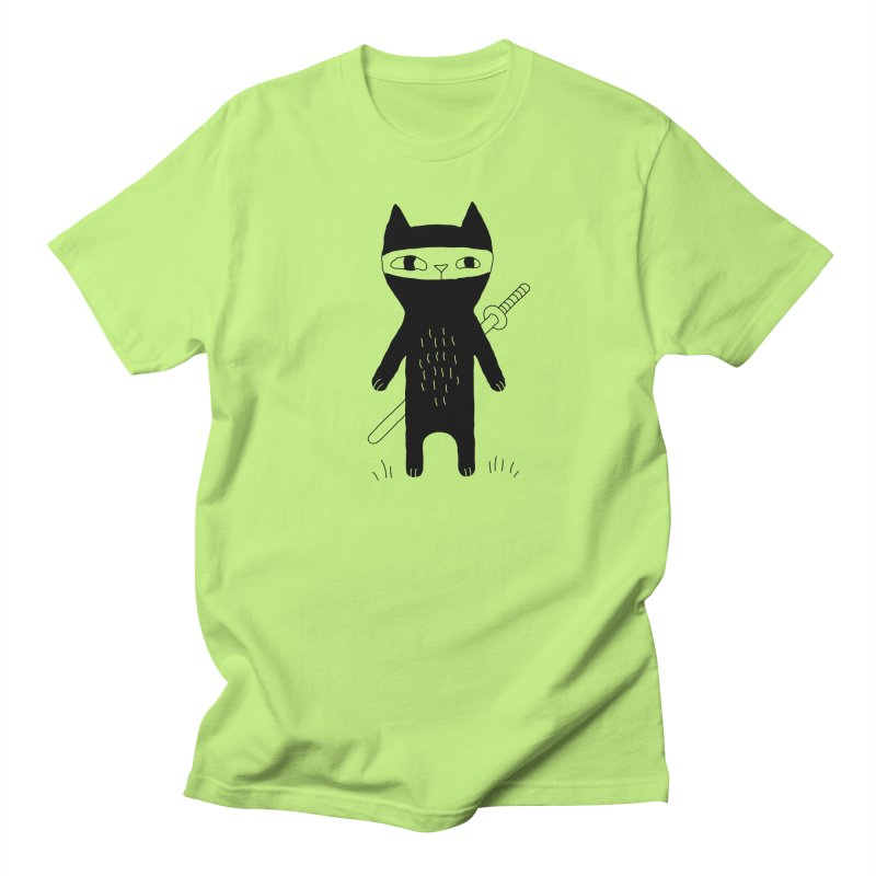 Ninja Cat Men's Regular T-Shirt by PENARULIT illustration