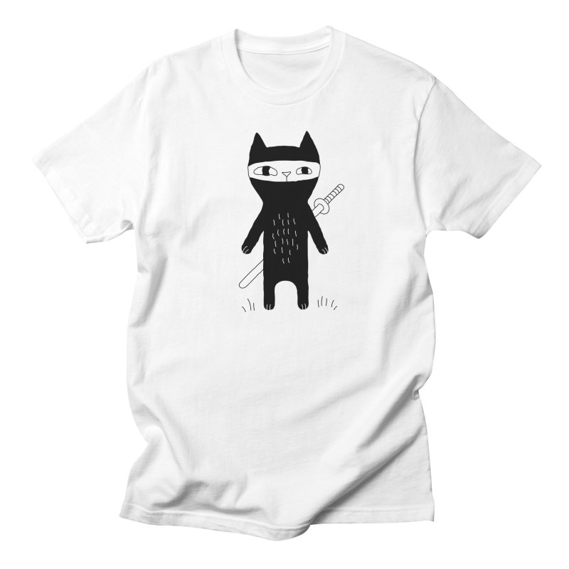 Ninja Cat Women's Regular Unisex T-Shirt by PENARULIT illustration