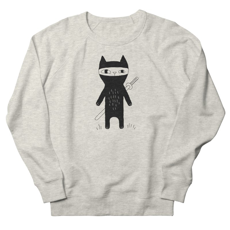 Ninja Cat Men's Sweatshirt by Ekaterina Zimodro's Artist Shop