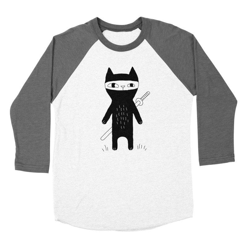 Ninja Cat Women's Longsleeve T-Shirt by PENARULIT illustration
