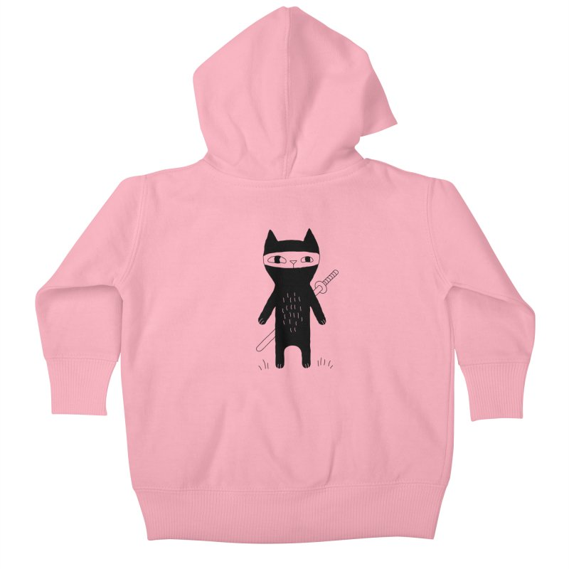 Ninja Cat Kids Baby Zip-Up Hoody by Ekaterina Zimodro's Artist Shop