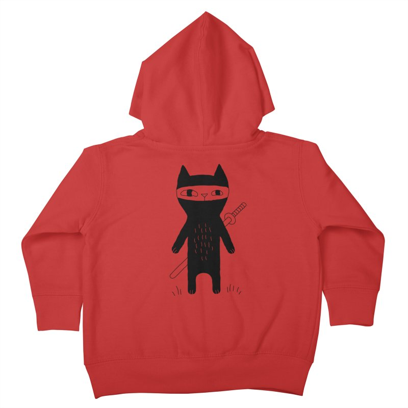 Ninja Cat Kids Toddler Zip-Up Hoody by Ekaterina Zimodro's Artist Shop