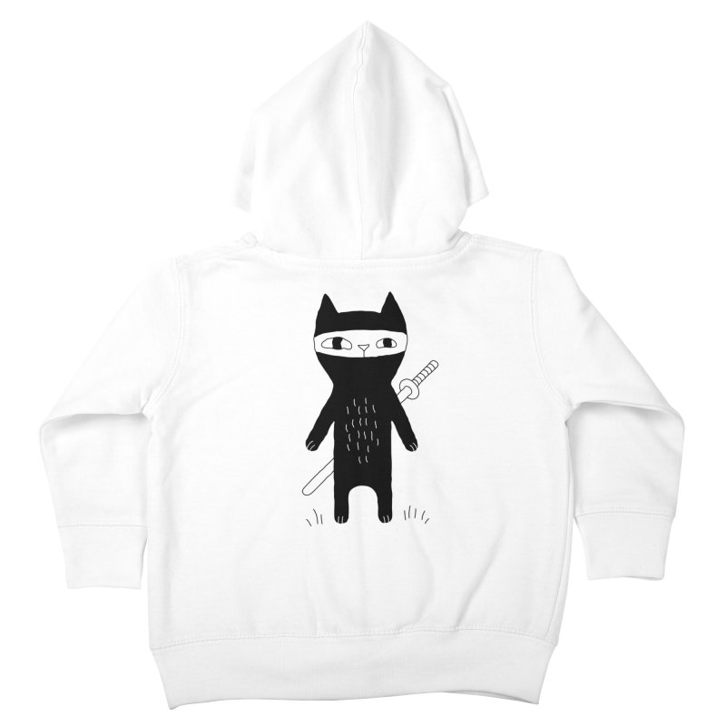 Ninja Cat Kids Toddler Zip-Up Hoody by PENARULIT illustration