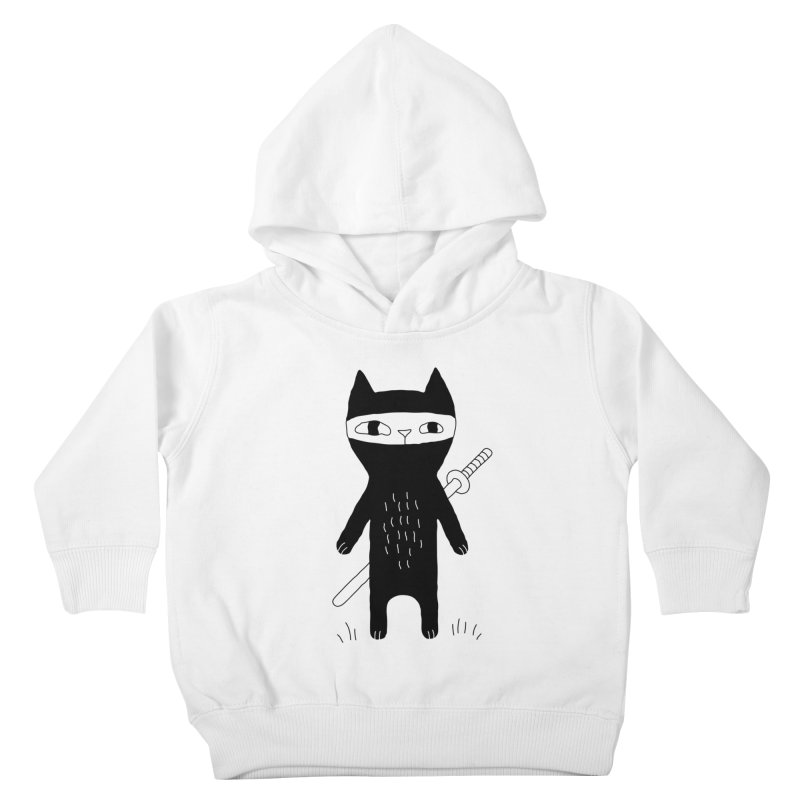 Ninja Cat Kids Toddler Pullover Hoody by Ekaterina Zimodro's Artist Shop