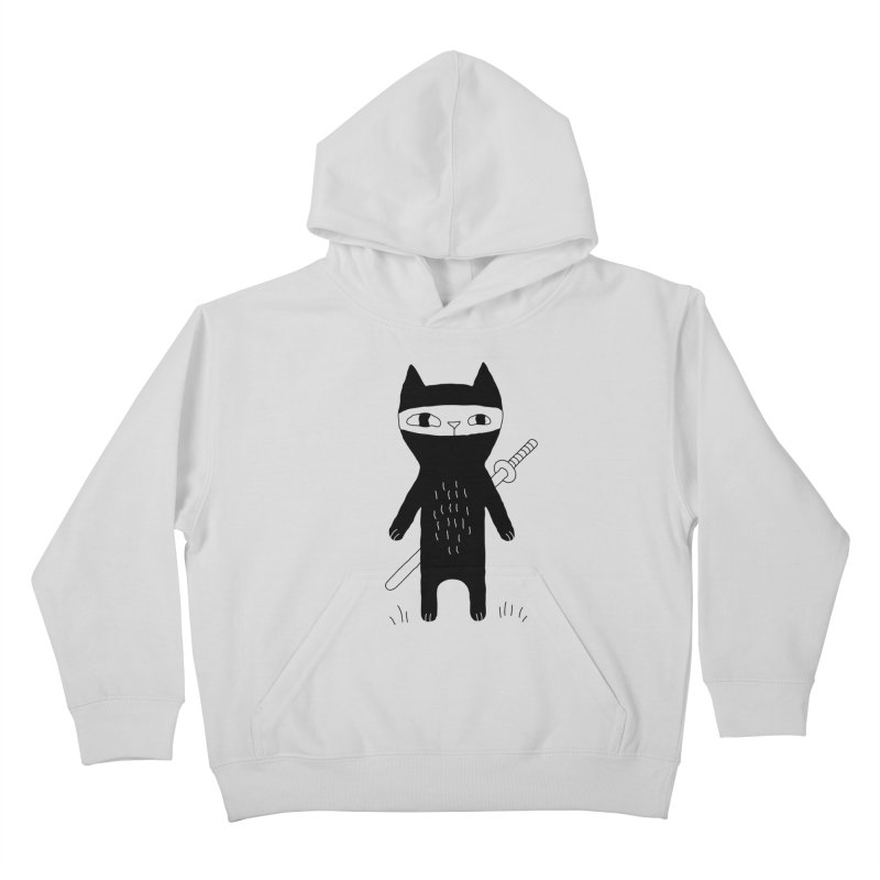 Ninja Cat Kids Pullover Hoody by PENARULIT's Artist Shop
