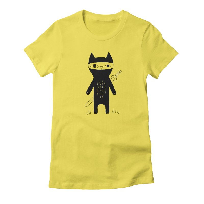 Ninja Cat Women's T-Shirt by PENARULIT's Artist Shop
