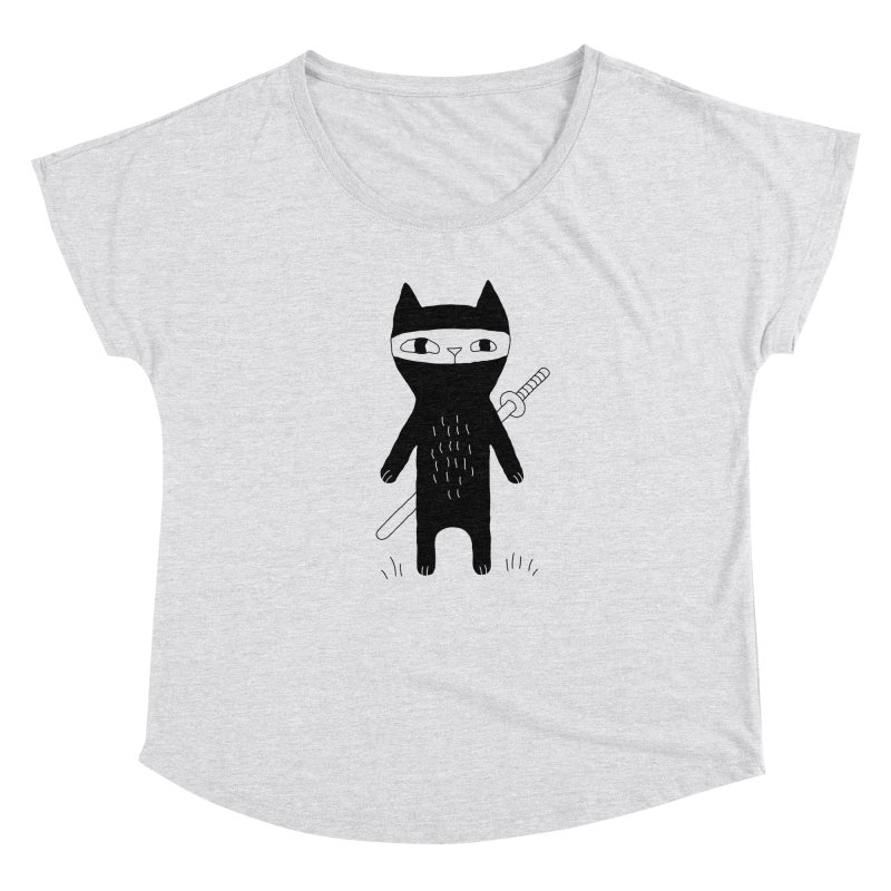 Ninja Cat Women's Scoop Neck by PENARULIT illustration