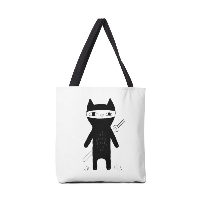 Ninja Cat Accessories Bag by PENARULIT's Artist Shop
