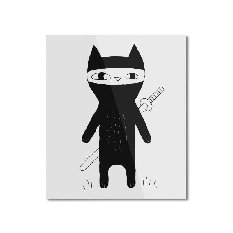 Ninja Cat Home Mounted Aluminum Print by PENARULIT's Artist Shop