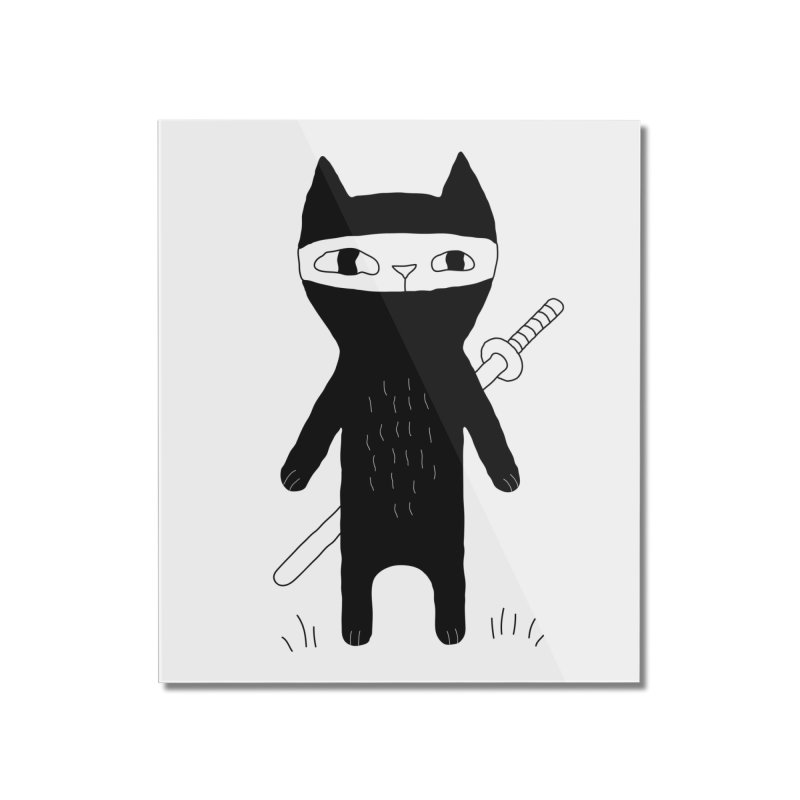 Ninja Cat Home Mounted Acrylic Print by PENARULIT's Artist Shop