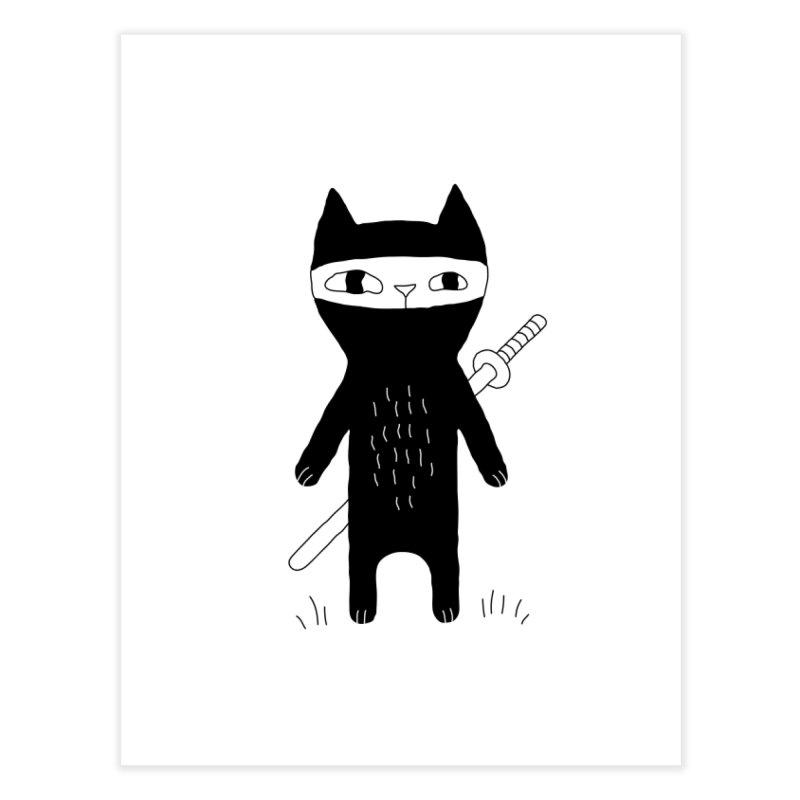 Ninja Cat Home Fine Art Print by Ekaterina Zimodro's Artist Shop