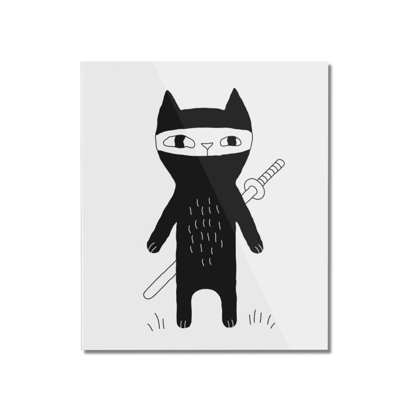 Ninja Cat Home Mounted Acrylic Print by Ekaterina Zimodro's Artist Shop