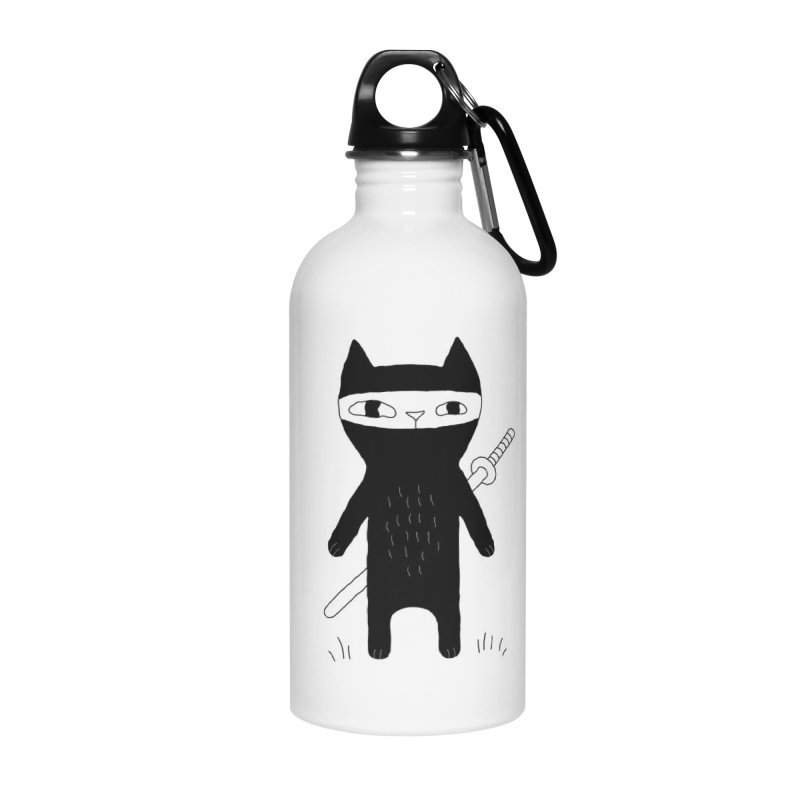 Ninja Cat Accessories Water Bottle by PENARULIT's Artist Shop