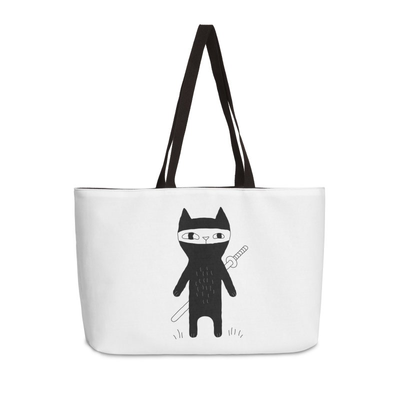 Ninja Cat Accessories Bag by PENARULIT illustration