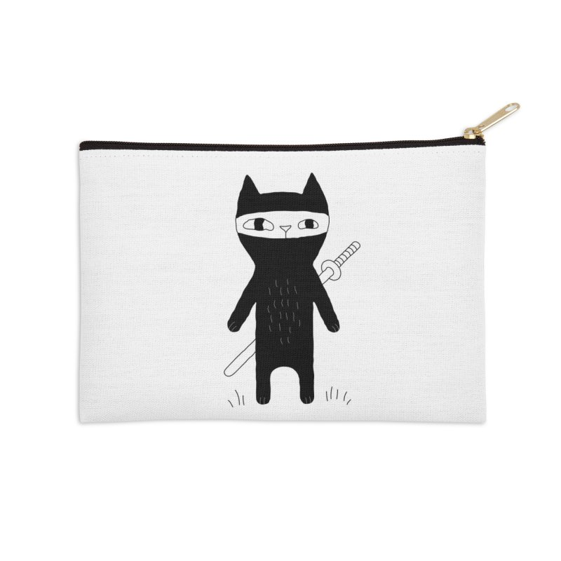Ninja Cat Accessories Zip Pouch by PENARULIT's Artist Shop